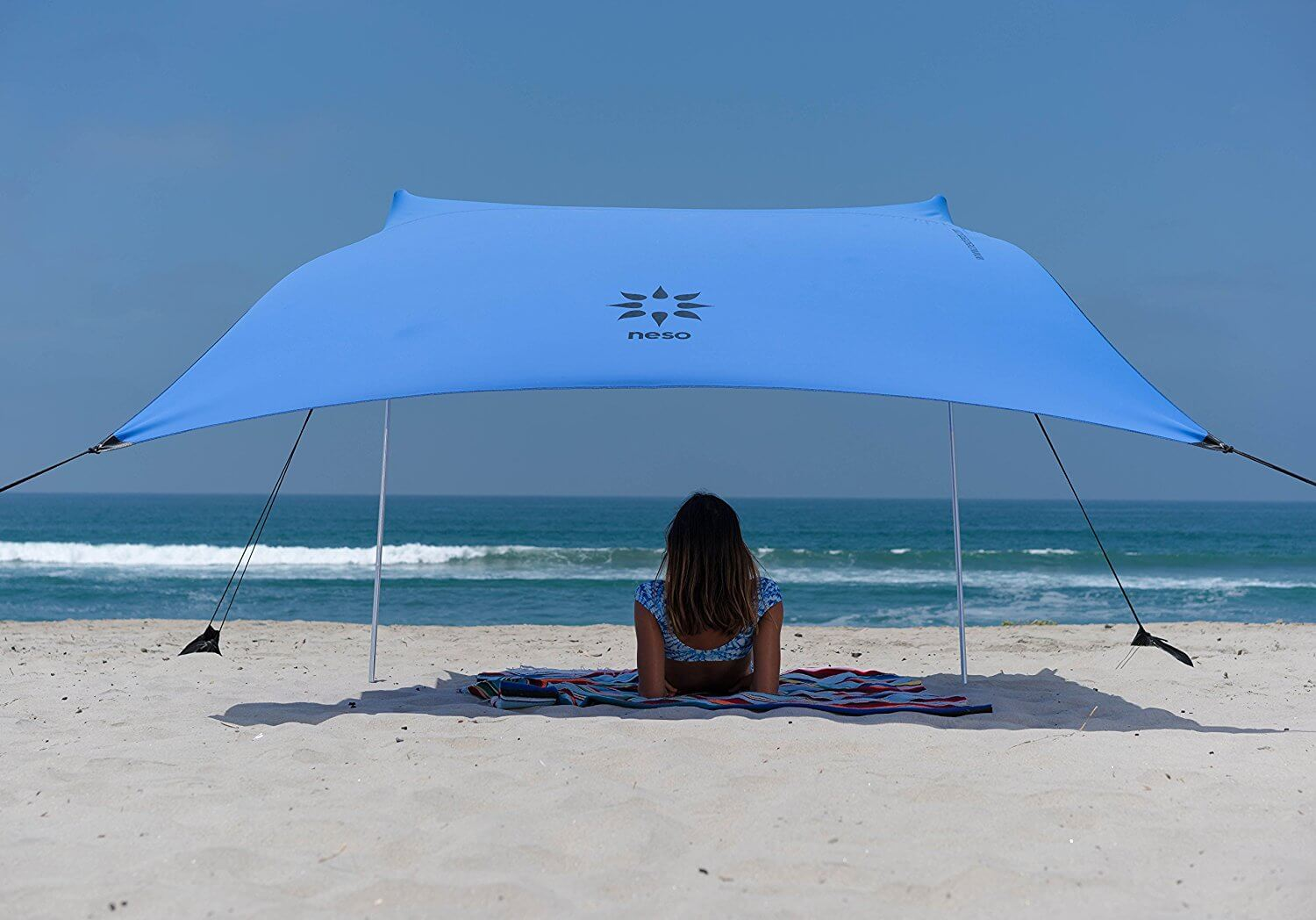 Neso Tents Beach Tent with Sand Anchor Portable Canopy SunShade - 7u0027 x 7 & Best Beach Canopy of 2018 - Reviews u0026 Buying Guide