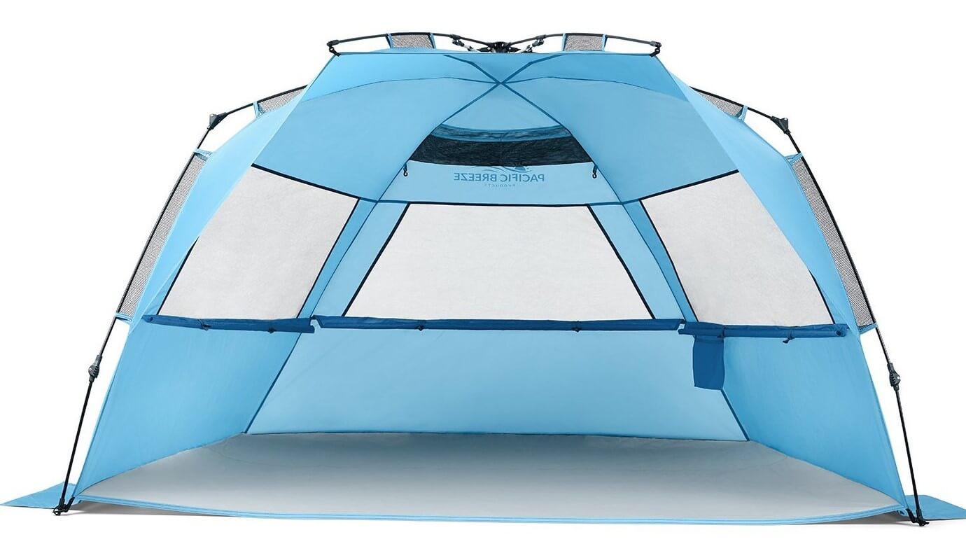 Pacific Breeze Easy Up Beach Tent Deluxe XL  sc 1 st  Best Beach Gear & Best Beach Tent of 2018 - Reviews u0026 Ultimate Buying Guide