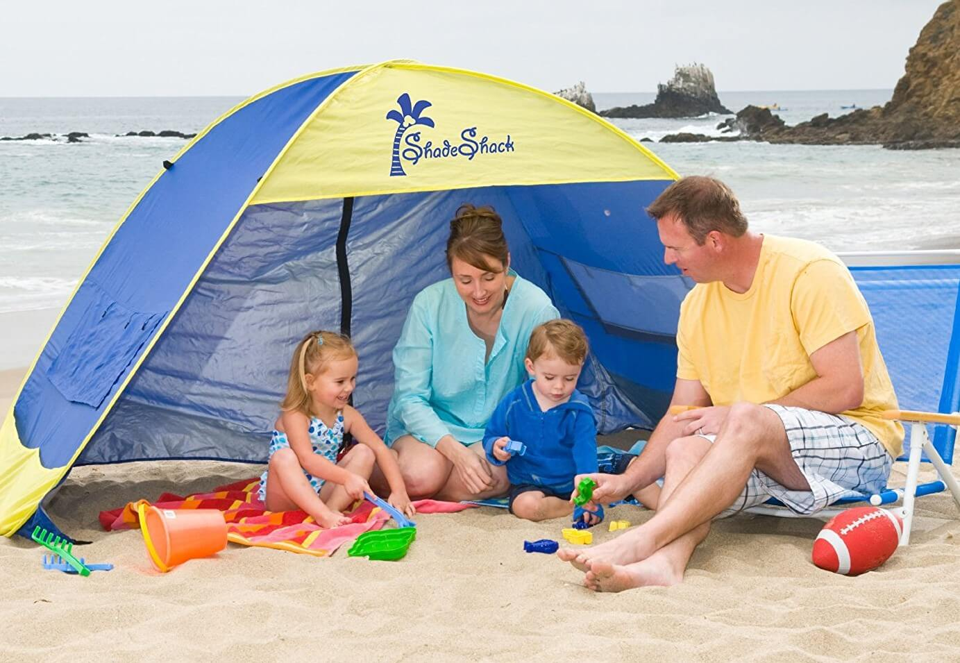 Shade Shack Instant Pop Up Family Beach Tent and Sun Shelter