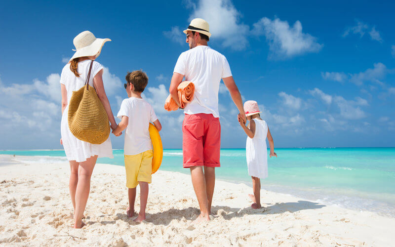 stress free beach vacation with kids